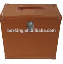 high grade 4 bottles leather wine holder, wine bottle box