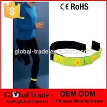4Pc Reflective LED Armband.Reflective High Viz Slap Wrap Arm Band Ankle Trouser Clip. A0960