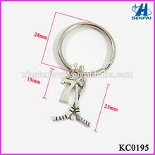 Alibaba Express Sports Promotional Gift Hockey Stick Keychain with Number Hockey Keychains