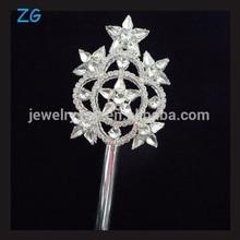 Fashion rhinestone star pageant scepter, full crystal pageant tiara scepter, crystal Tiara and wand