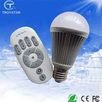 2015 high quality wireless remote control smart 6w color temperature adjustable led bulb light 3000K-6000K