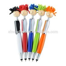 cute long hair doll pen
