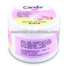 offfer OEM/ODM Carefor Baby Anti-rash Powder with talc