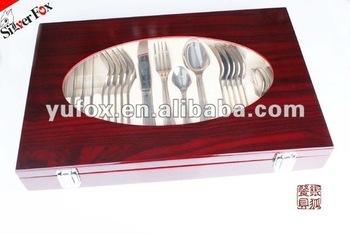 Grace Red Wooden Flatware Chest