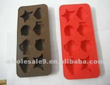 colorful cute design silicone ice cube tray
