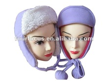 Fleece wind-proof earflaps