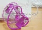 plastic zipper heart shape bag for storage