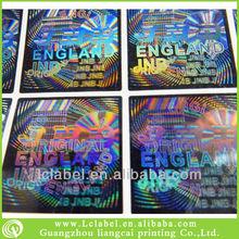 2012 top hot custom hologram sticker laser hologram