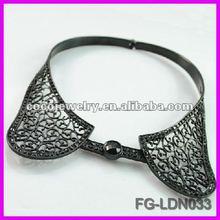 NEW-design black collar like necklace