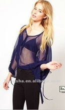Traffic People Sheer Kaftan Top for Women 2012 Hss-037