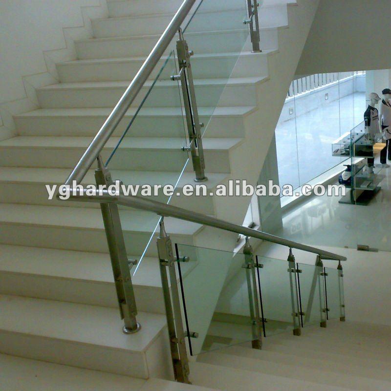 Vidrio de barandillas para escaleras yg b1185 barandas y - Escaleras con barandilla de cristal ...