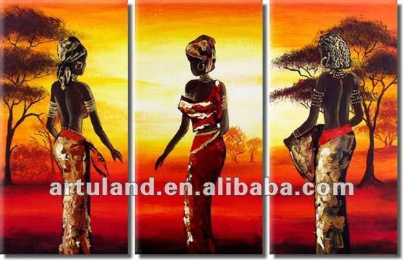картины маслом африка: