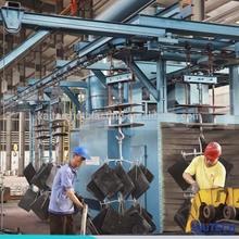 Q385 hanger chain type auto sand blasting machine/shot blasting cleaning equipment made in China