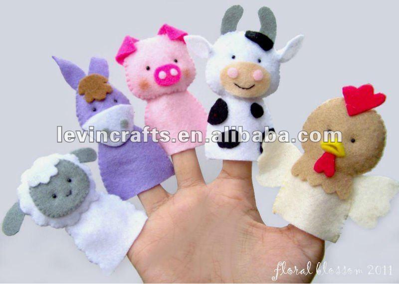 Animales Encantadores De La Cara Fieltro Tteres Dedo