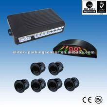 12V Voltage led parking sensor, front and rear parking sensor with 6 sensors