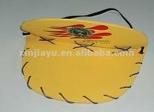 eva foldable cap,eva fashion promotional sun visor,cheap cartoon printed children foam hat of EVA, Measuring 27 x 30 x 0.2cm