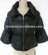 2012 ladies fashionable puffed sleeves lamb down jacket