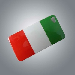 PC cover with Italy Flag in surface for 4s P4118