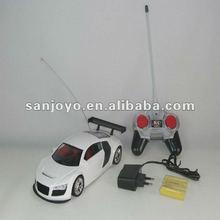 4 channel simulation AUDI R8 1:18 rc car baby car simulator