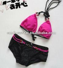 2012 Women swimwear,hot sale pink bikini swimwear
