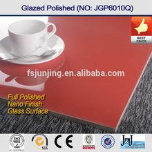 Vitrified red color porcelain tile