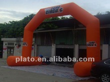Promotional orange customize advertising Inflatable Arch