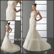 2012 Popular Strapless Custom Made Alternative Bridal Gowns WD-B009