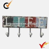 shabby alphabetical wooden hooks