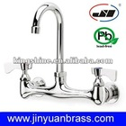 "8"" center wall mount commercial sink faucet"