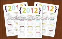 per la stampa 2014 calendario annuale con stampa a colori