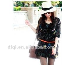new fashionable chiffon lady short sleeve blouse in 2013