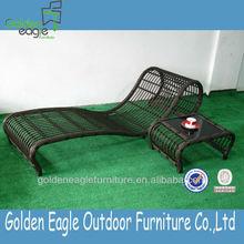 Patio thick round wicker furniture / sun lounge / beach chair