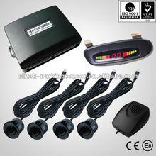 Human voice alert available led car parking sensor system