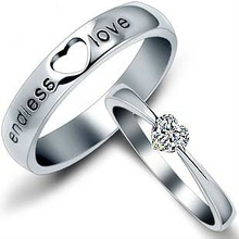 Fashion sterling silver S925 Couple lover rings jewelry