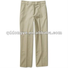 100% Cotton khaki uniform pants