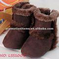 Botas marrones, bebé de invierno mukluk botas estilo