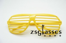 Hot sale shutter shade sunglasses/plastic glasses/promotion sunglasses