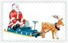 Amusement Ride Electric Car Reindeer and the Santa Sleigh NO.SYLLXQ