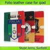 Tablet case cover Football team Folio cover leather case for ipad 2 3 4, for ipad case leather