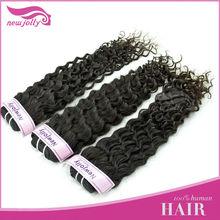 Natural Color 22 Inchs Deep Wave Virgin Cheap Brazilian Hair Weaving