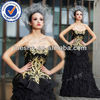 2012 New Golden Embroidey Formal Evening Dress