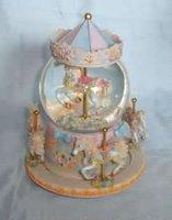 Custom hobbyhorse water globe polyresin Chrismas gifts for kids