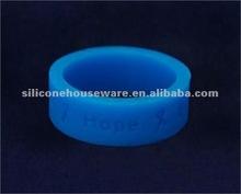 Dark Blue Ribbon Silicone Ring