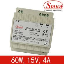 High efficiency 60W meanwell Din rail power supply 15v(DR-60-15)