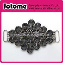 Garment Accessories Grey Prismatic Acrylic Rhinestone Belt Buckle