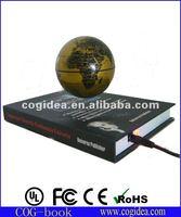 hot selling base magnetic floating globe suspending&spinning world globe nice globe display on desk or indoor