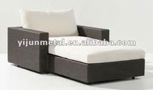 fashionable indoor modern rattan leather sofa