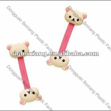 2012 new cute teddy bear style earphone cable tie