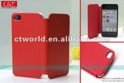 luxury pu leather case for iphone 4,for pu coating leather