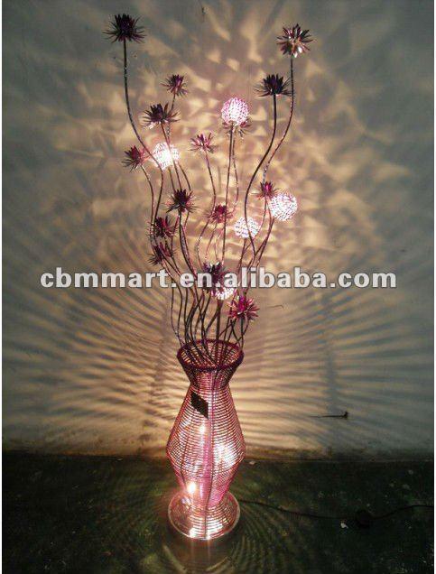 Lampe De Plancher En Aluminium Art D Co Clairage Fleur Vase Lampadaire Lampadaire Id Du Produit